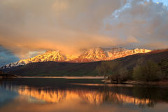 Heber Valley sunrise landscape Royalty Free Stock Photography
