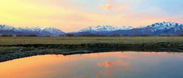 Heber Valley Sunrise Panorama Royalty Free Stock Images