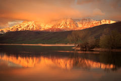 Free Heber Valley Sunrise Reflection Royalty Free Stock Photography - 69854357