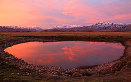 Heber Valley Sunset Reflection Royalty Free Stock Image