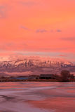 Heber Valley vertical sunrise. Amazing sunrise in Heber Valley, Utah, USA royalty free stock photo