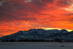 Heber Valley winter sunset. Stock Images