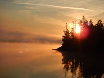 Hebgen soluppgång Arkivfoton