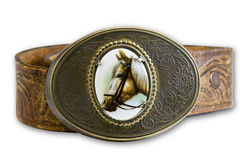 Hebilla de correa del caballo Imágenes de archivo libres de regalías