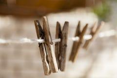 Hebilla de madera del lavadero Imágenes de archivo libres de regalías