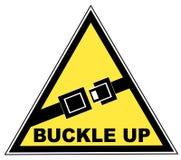 Hebilla encima de la muestra del cinturón de seguridad Fotos de archivo libres de regalías