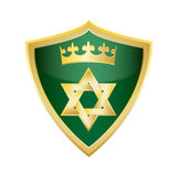 Hebréisk judisk stjärna av den Magen David sköldvektorn Royaltyfria Bilder