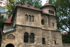 Hebraic museum i den historiska mitten av Prague Royaltyfri Fotografi