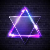 Hebreeuws bijbels Judaïsmesymbool De Joodse ster van David stock illustratie