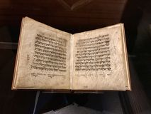 Hebreeuws Gebedboek in Hebreeuws Perkament Royalty-vrije Stock Foto