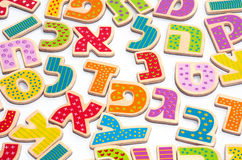 Hebrew alphabet letters. And characters background stock photo