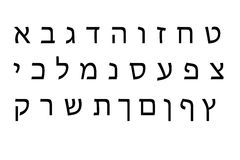 Hebrew Alphabet set Stock Photos