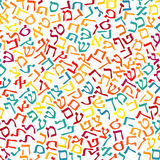 Hebrew alphabet texture background Stock Photo