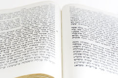 Hebrew Bible. The first page of Genesis in the Hebrew bible Royalty Free Stock Image