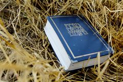 Hebrew Bible, Tanakh Torah, Nevi`im, Ketuvim on natural straw in Israel royalty free stock photography