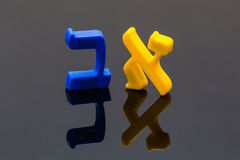Hebrew Colorful letters Alphabet close up Royalty Free Stock Image
