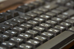 Hebrew/English Keyboard. Hebrew/English dual language black computer keyboard royalty free stock images