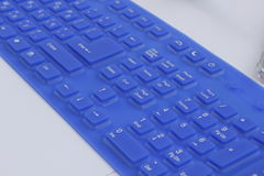 Hebrew and English Keyboard Stock Photo