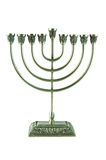 Hebrew Hanukkah Menorah Royalty Free Stock Photography