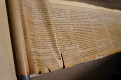 Free Hebrew Scroll Found Near The Dead Sea, Selective Focus Royalty Free Stock Photo - 148543495