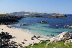 Hebridean Coast. An empty beach at Brenish, Uig region of the isle of lewis Royalty Free Stock Image