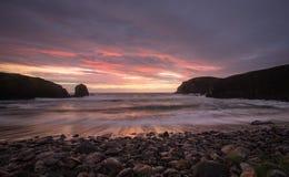 Hebridean solnedgång Royaltyfria Bilder