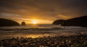 Hebridean solnedgång Royaltyfri Bild