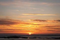 Hebridean solnedgång Arkivbild