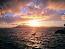 Hebrides zmierzch zdjęcia stock