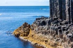 斯塔法岛、内在Hebrides的海岛在Argyll和保泰松,苏格兰 库存照片