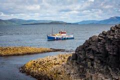 斯塔法岛、内在Hebrides的海岛在Argyll和保泰松,苏格兰 免版税图库摄影