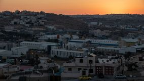 Hebron au coucher du soleil photo stock