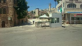 Hebron Checkpoint near Cave of Patriarchs Royalty Free Stock Photos