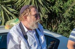 Shmuel Mushnik israeli historian, photographer, and accomplished artist, resident of Hebron. HEBRON, ISRAEL - NOVEMBER 02, 2018: Shmuel Mushnik israeli historian royalty free stock photo