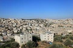 Hebron panorama från telefon Rumeida Royaltyfria Bilder