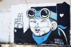 Hebru gatunek, Chicagowski Street Art obraz royalty free