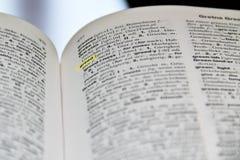 Hebzucht in het woordenboek royalty-vrije stock afbeeldingen