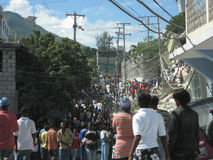 Hecatomb in Haïti stock afbeeldingen