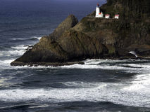 Heceda Ligthhouse. Heceda Lighthouse on the pacific coast of Oregon Royalty Free Stock Image