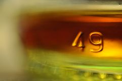 Heces en una botella de whisky Imágenes de archivo libres de regalías