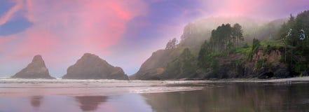 Heceta głowy latarni morskiej stanu parka panorama zdjęcia royalty free