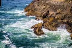 Heceta głowy latarni morskiej stanu parka Sceniczny punkt widzenia w Florencja, Oregon Zdjęcie Royalty Free