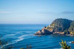 Heceta głowy latarni morskiej stanu parka Sceniczny punkt widzenia w Florencja, Oregon Fotografia Stock
