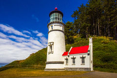 Heceta Head Light And Keeper's Quarters Stock Photo