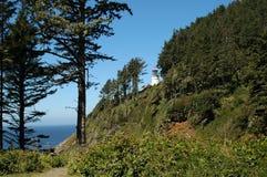 Heceta Head Lighthouse. On Oregon Coast stock photo