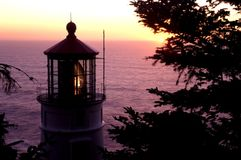 Heceta head lighthouse. View of an historical landmark on the Oregon coast Stock Photo