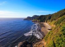 Heceta Head Lighthouse and Coastline Royalty Free Stock Photography