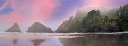 Heceta Head Lighthouse State Park Panorama Royalty Free Stock Photos