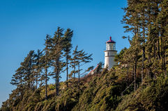 Heceta Head Lighthouse. A view of the Heceta Head Lighthouse from the keepers house Stock Image