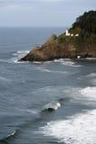 Heceta Head Oregon Coast Lighthouse Nautical Beacon USA Stock Photography